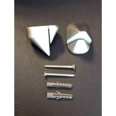 Shelf Brackets - Satin Chrome