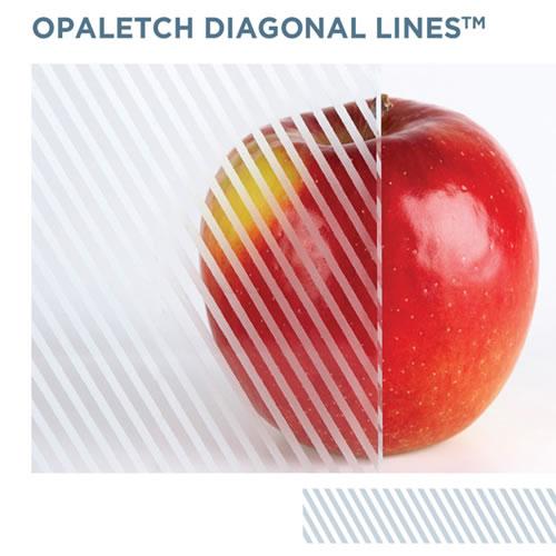 OpalEtch Diagonal Lines - Acid Etched Glass