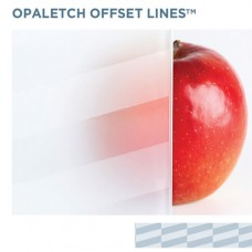 OpalEtch Offset Lines - Acid Etched Glass