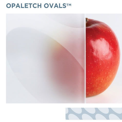 OpalEtch Ovals - Acid Etched Glass