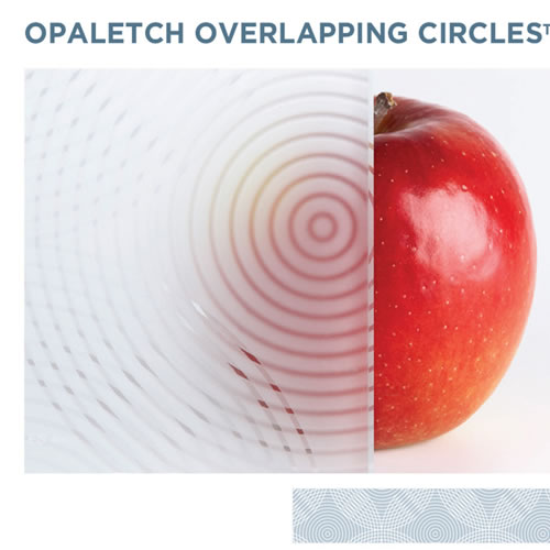 OpalEtch Overlapping Circles - Acid Etched Glass