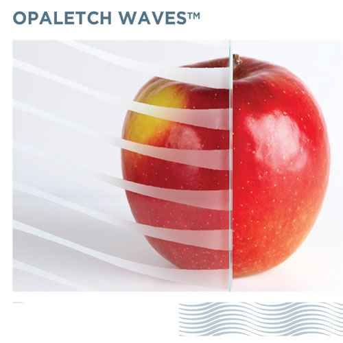 OpalEtch Waves - Acid Etched Glass