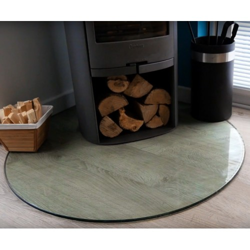 Glass Fire Hearth - Toughened Float