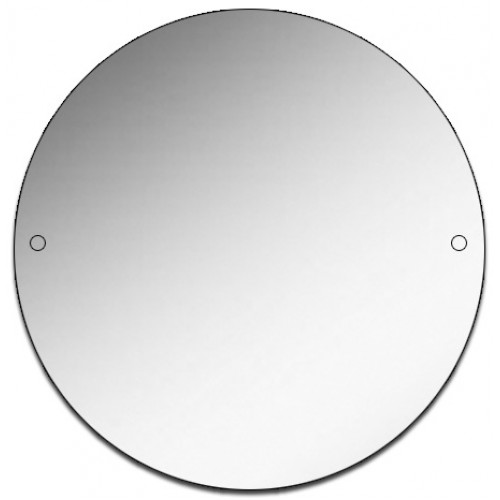 Round Polished Edge Mirror with Drill Holes