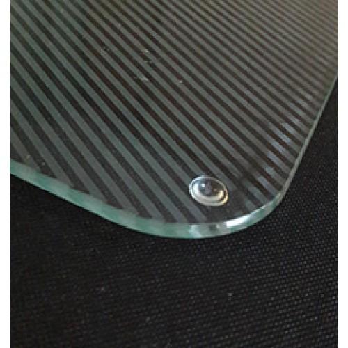 Opal Etch Party Platters - Diagonal Lines