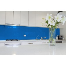 Low Iron Sky Blue Colour Splashbacks 6mm