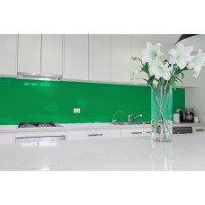 Low Iron Emerald Green Colour Splashback 6mm