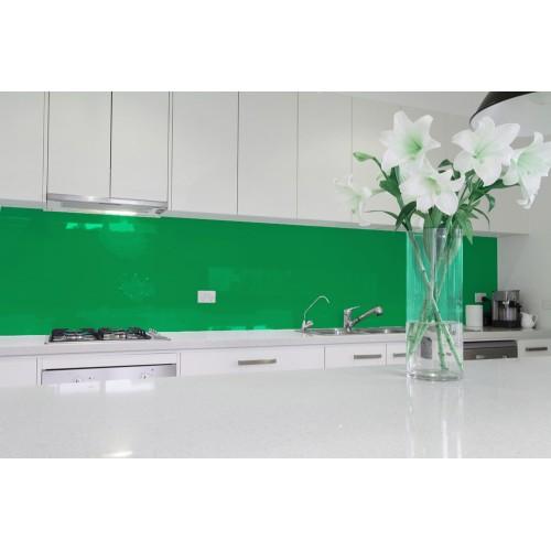 6mm Low Iron Emerald Green Colour Splashbacks