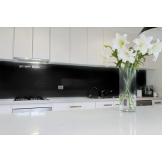 Low Iron Deep Black Colour Splashback 6mm