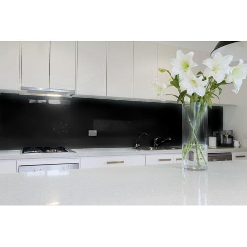 6mm Toughened Painted Glass - Deep Black RAL 9017