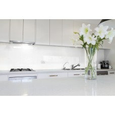 Low Iron Crisp White Colour Splashback 6mm