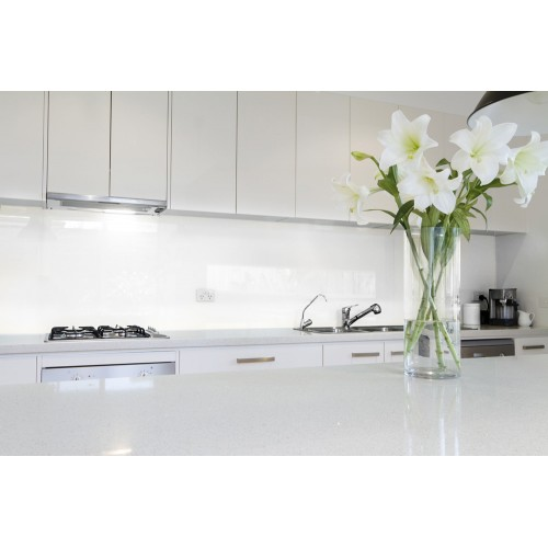 6mm Toughened Painted Glass - Crisp White 9016