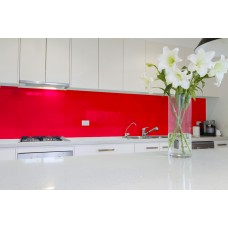 Low Iron Vermillion Colour Splashback 6mm