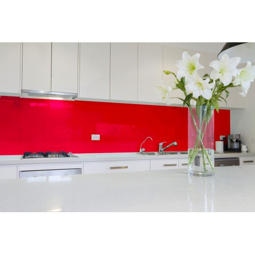 6mm Low Iron Vermillion Colour Splashbacks