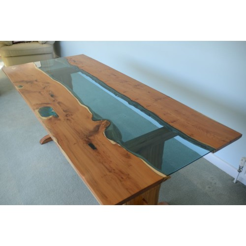 Blue Tint Glass Table Top