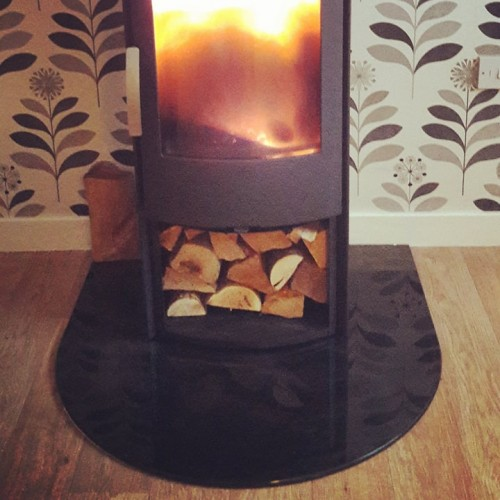 Glass Fire Hearth - Toughened Painted