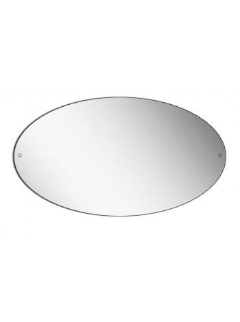 OVAL POLISHED EDGE MIRROR WITH DRILL HOLES