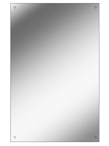 Rectangular Polished Edge Mirror with Drilled Holes