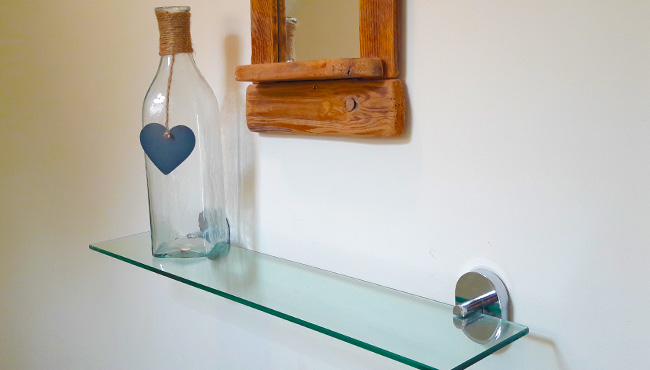2 Glass Shelves